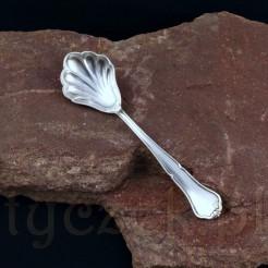 Elegancka łyżeczka do cukierniczki w całości posrebrzana