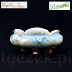 Otwarta cukiernica z porcelany Bavaria malowanej ręcznie