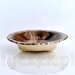 Pięknie zdobiona misa z majoliki - ceramiki