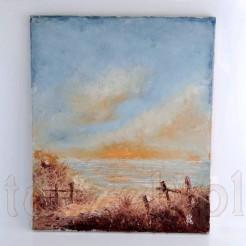 Stylowy zachód słońca - piękny obraz na płótnie