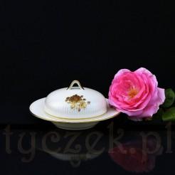 Złocony motyw dekoracyjny - róża