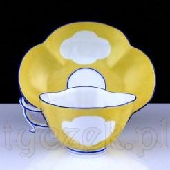 Dostojna porcelanowa filiżanka ze spodkiem MEISSEN