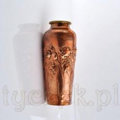 Znakomity wazon miedziany z okresu secesji