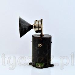 Stylowy i stary mikrofon kolejowy