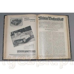 Dwa kompletne roczniki Militar Wochenblatt