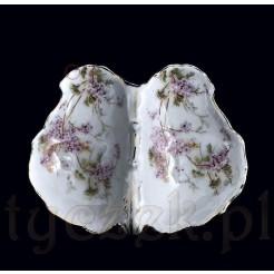Miniaturowy kabarecik porcelanowy w kwiaty