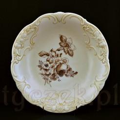Pokaźna porcelanowa patera na stopie wykonana w bawarskiej wytwórni Heinrich & CO