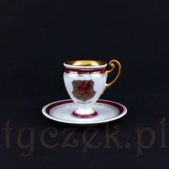 Ręcznie malowana filiżanka herbowa MISDROY