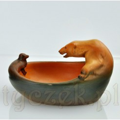 Zabytkowa figuralna ceramika sygnowana