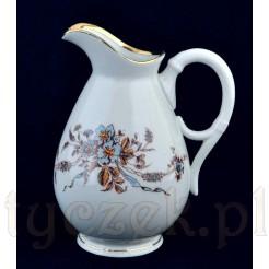 Piękny duży dzbanek na mleko - porcelana podmalowywana