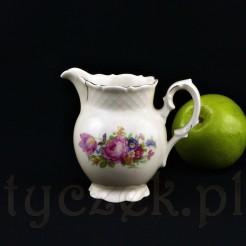Cudowny mlecznik wykonany został z wałbrzyskiej porcelany w kremowym odcieniu