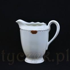 Rewelacyjny mlecznik z Wałbrzyskiej porcelany zabytkowej marki KPM