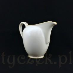 Efektowny mlecznik do mleka lub śmietanki z żarskiej porcelany