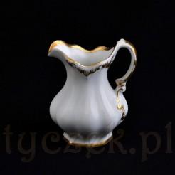 Luksusowy śląski mlecznik CT złocony w KPM Kopenhaga