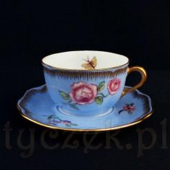 Porcelanowa mokka z różą