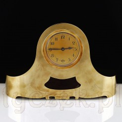 Wyjąkowy zegar mosiężny na komodę, kominek i nie tylko