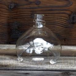 Zabytkowe szklane naczynie - muchołapka