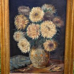 Obraz malowany farbami olejnymi na desce w klimacie bukietów Edouarda Maneta