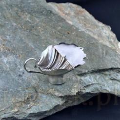 Unikatowa sosjerka wykonana została ze srebra próby ok. 800