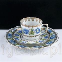 Niebieska róża zdobi markową porcelanę MZ Altrohlau