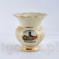 Porcelanowy wazon z widokiem kościoła w Neustrelitz