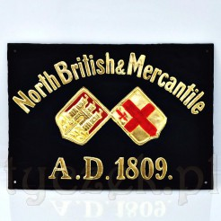 XIX wieczna tablica angielskiego ubezpieczyciela