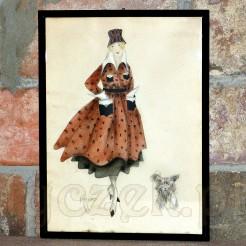 Pełen stylu i elegancji kolorowy rysunek, którego autorem jest Paul Kropp.