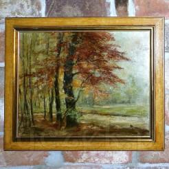 Wspaniały przykład klasycznego malarstwa olejnego.