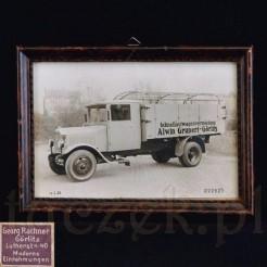 zabytkowa przedwojenna fotografia starego samochodu z Gorlitz