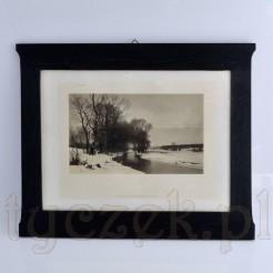Franz Seraph Hanfstaengl piękna zimowa fotografia