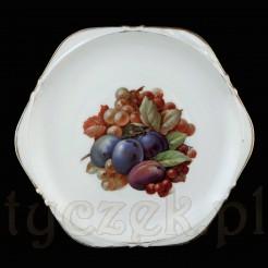 Talerz Ohme Szczawienko wykonany z białej porcelany.