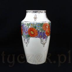 Zjawiskowo piękny malowany wazon ze Szczawienka