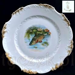 zabytkowy talerz porcelanowy Ohme