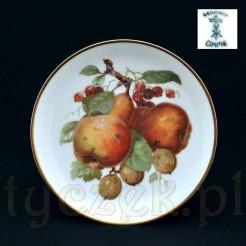 Ekskluzywny śląski talerzyk z owocami ze Szczawienka