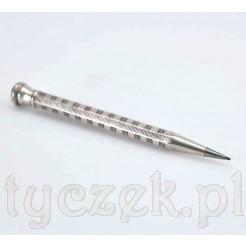 Srebrny ołówek z grawerowaną obudową w pełni sprawny