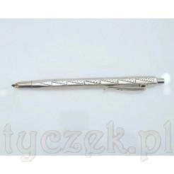 Nowoczesny wzór zdobi ten przepiękny ołówek wykonany z polskiego srebra