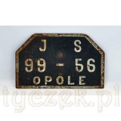 Stara tablica rejestracyjna - OPOLE