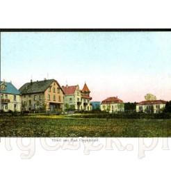 Domy opieki, pensjonaty wzdłuż dzisiejszej ulicy Lipowej w Opolnie Zdrój