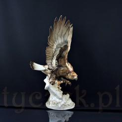 Luksusowy eksponat orła przedniego z markowej porcelany
