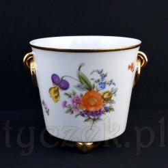 Piękna porcelanowa osłonka na doniczkę