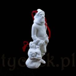 Porcelanowy mikołaj na choinkę