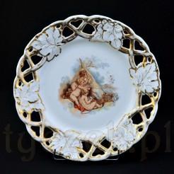 Ekskluzywny talerz ozdobny z XIX wieku