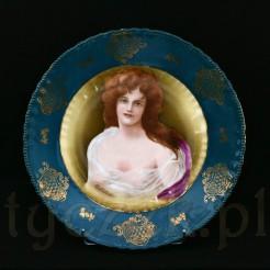 Doskonała patera dekoracyjna z markowej porcelany