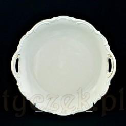 Okazały talerz z kremowej porcelany bawarskiej