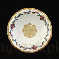 Dekoracyjna i pokaźna patera w stylu Chippendale z markowej porcelany