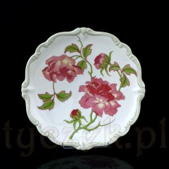 Wnętrze patery zdobione zostało wzorem o nazwie Rigoletto w postaci sporych rozmiarów motywu kwiatowego w kolorze różowym
