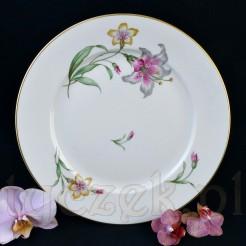 Lilie na markowej porcelanie Rosenthal