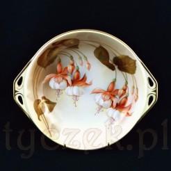 Znakomity okaz - porcelanowe cacuszko w fuksje