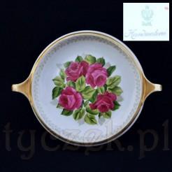 Przepiękna paterka dekorowana motywem róż