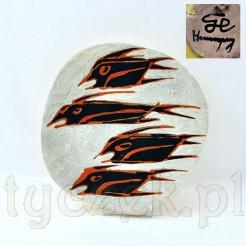 Picassowski talerz wykonany w z ceramiki